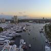 Aerial clip Dusk Fort Lauderdale International Boat Show 4k 24p