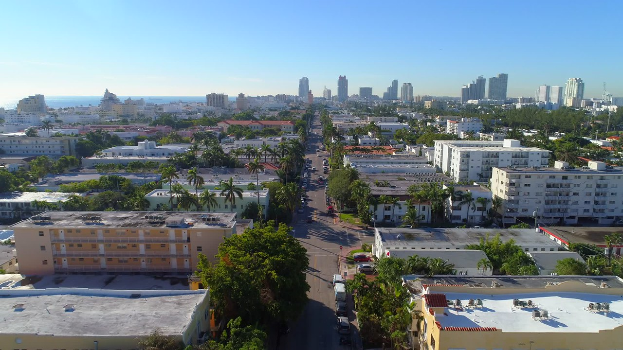 Aerial video Miami Beach apartments for sale and vacation rental