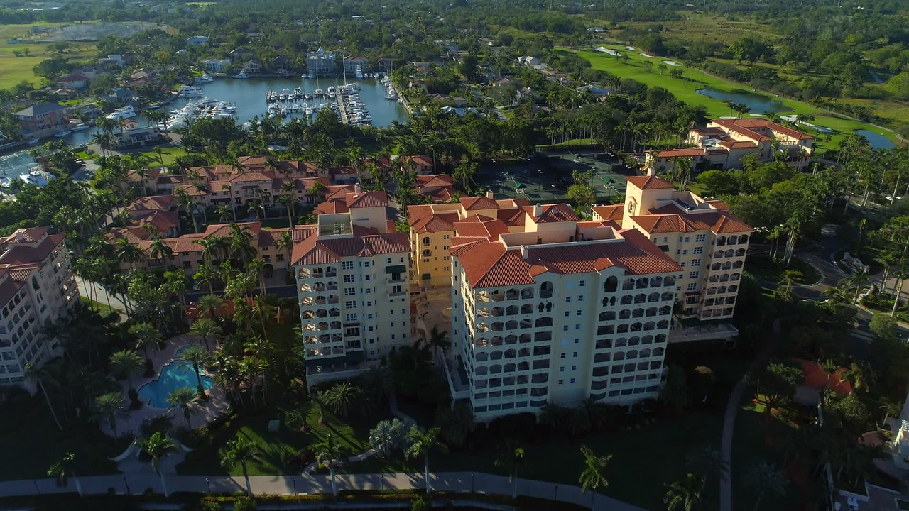 Aerial video luxury Miami real estate Cuttler Bay 4k 24p