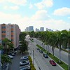 Aerial drone video inspection road construction Las Olas Boulevard Fort Lauderdale FL