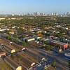 Liberty Square Miami Florida aerial droen video