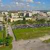 Aerial establishing shot of FIU Miami college campus