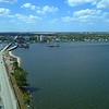 Aerial approach West Palm Beach Florida