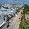 Sand blown on Ocean Drive from Hurricane Irma