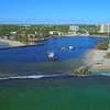 Aerial Hillsboro Inlet Lighthouse Pompano Beach FL 4k 60p