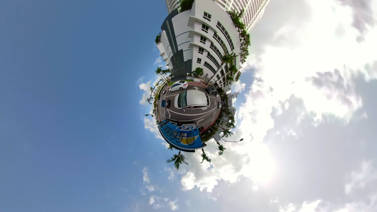 Driving Tiny Planet Miami Beach Collins Avenue