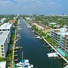 Aerial drone footage  Hendricks and Venice Isles Fort Lauderdale Florida