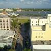 Aerial video Flagler Park West Palm Beach water views 4k 60p