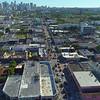 Drone stock footage Wynwood Miami art walls 4k 24p