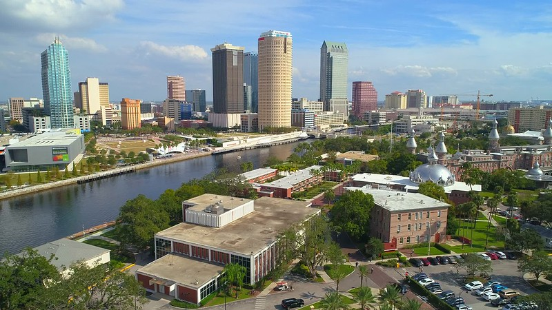 Establishing shot Downtown Tampa FL