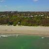 Aerial pull away shot Boca Raton Beach FL 4k