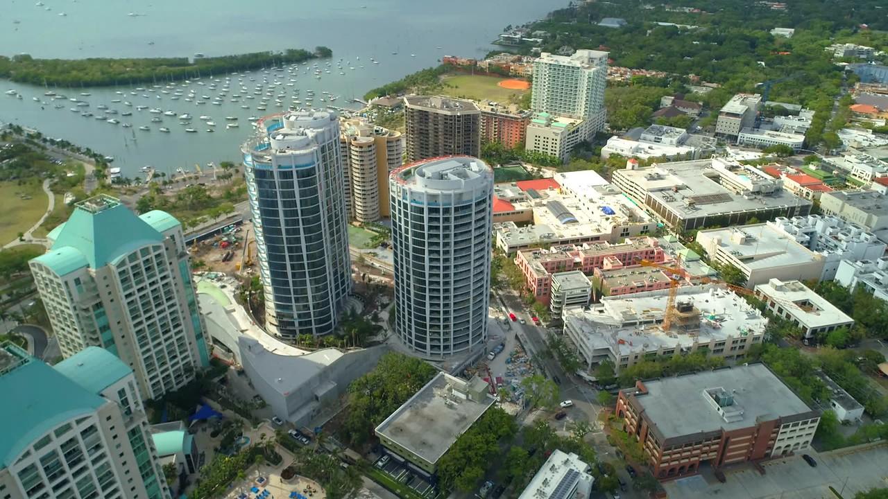 Grove at Grand Bay Condominium aerial drone footage