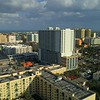 Downtown West Palm Beach lateral shot 4k