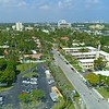 Reverse aerial drone footage  Hendricks and Venice Isles Fort Lauderdale Florida