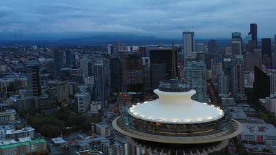 Seattle Space Needle 4k 30p drone footage