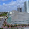 Aerial video Adrienne Arsht Center Downtown Miami