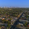 Aerial Liberty City Miami approach towards Downtown