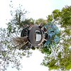 Tiny planet Miami Design District stabilized
