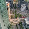 Aerial city tour Brickell Avenue 4k 24p