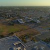 Aerial drone video footage Holmes Elementary School Miami Florida 4k