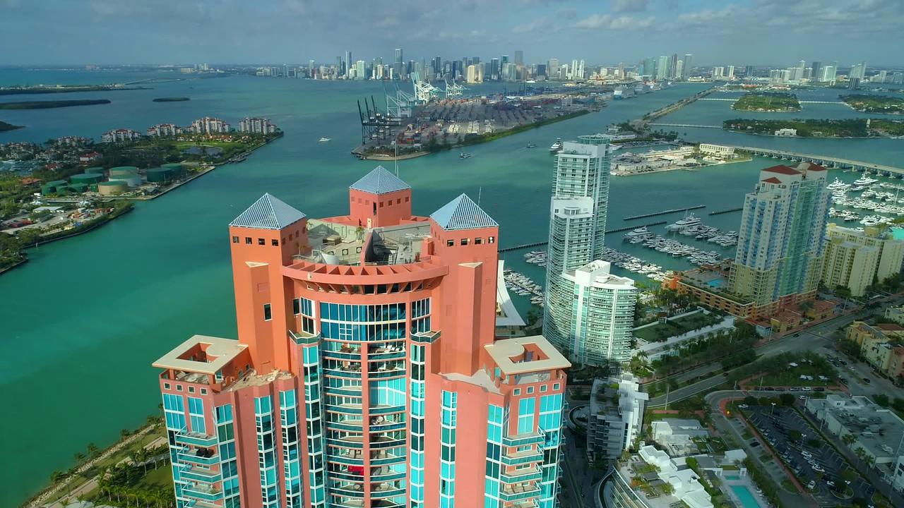 Portofino Miami Beach penthouse drone video 4k