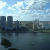 Downtown West Palm Beach Florida aerial lateral motion video