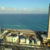 Aerial pull away footage Golden Strand Sunny Isles Beach Florida Aqualina site