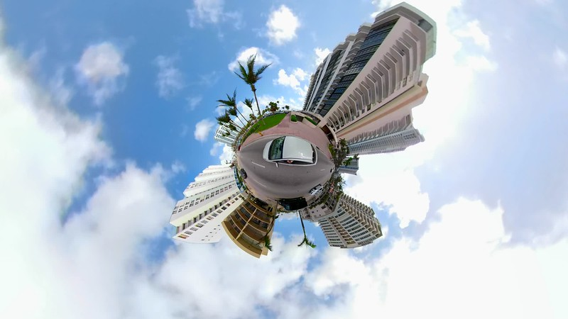 Special effects driving on a tiny planet