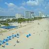 Ultra fast aerial drone hyper lapse Fort Lauderdale Beach Spring Break 2018