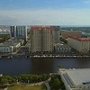 Aerial shot rental condominiums Harbour Island Tampa FL USA