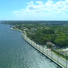 Aerial drone hyper lapse West Palm Beach Florida Flagler Drive 4k 60p