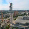 Aerial drone footage Tampa Florida USA NBC Tower River