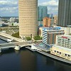 Aerial video Tampa FL Kennedy Boulevard