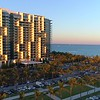Aerial reveal W Hotel Miami Beach