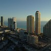 Aerial pull away footage Sunny Isles Beach Florida USA