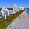 Stock footage of Miami Beach shot with a drone