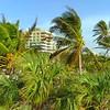 Aerial reveal Nikki Beach Miami FLorida