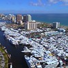 Drone footage of the Fort Lauderdale boat shot 2017 4k 60p