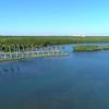 Aerial video Deering Estate Miami FL