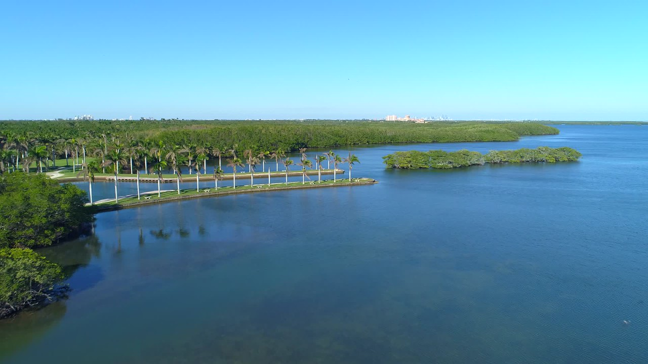 Aerial video Deering Estate Miami FL