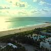 Aerial drone video morning in Miami Beach flyover 4k
