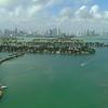 Aerial drone footage Venetian Islands and Belle Isle Miami Beach Florida