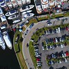 Aerial shot luxury yachts Fort Lauderdale Boat Show 2017