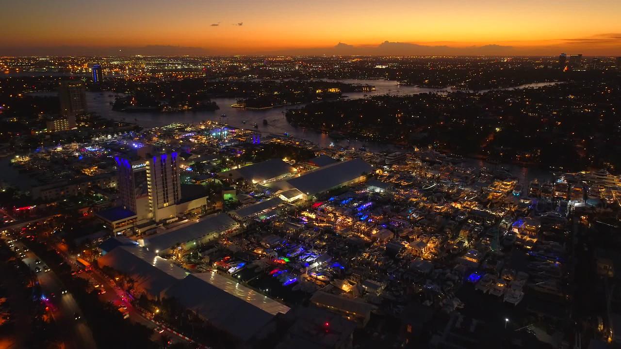 Aerial droen hyperlapse video Fort Lauderdale FL