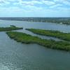Aerial drone footage Lake Worth Lagoon Palm Beach Florida