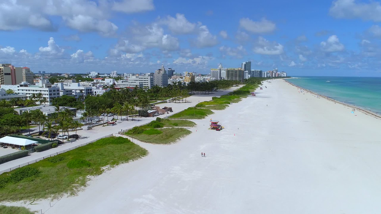 Miami Beach aerial video before Hurricane Irma