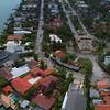 Aerial drone flyover Hibiscus Island Miami mansions