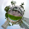 Miniature tiny planet Miami Beach Marina