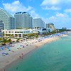 Fort Lauderdale Beach resorts spring break 2018 aerial drone video footage