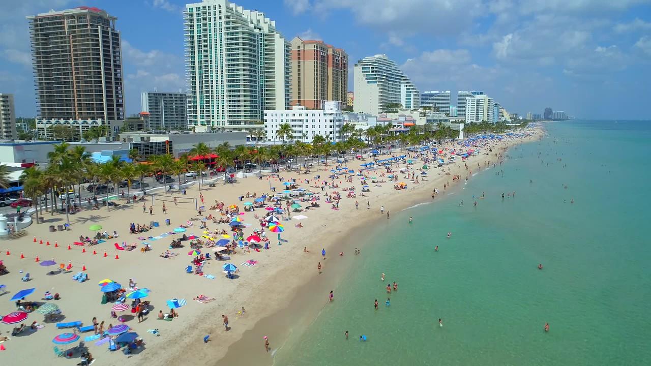 Spring break Miami Fort Lauderdale Florida 4k 60p
